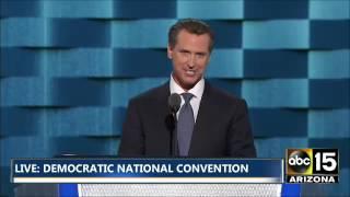 FULL: California Lieutenant Governor Gavin Newsom - Democratic National Convention
