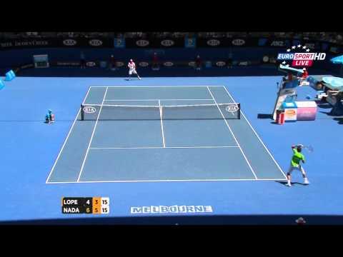 Rafael Nadal vs Feliciano Lopez Australian Open 2012 Highlights HD 720p Round 4