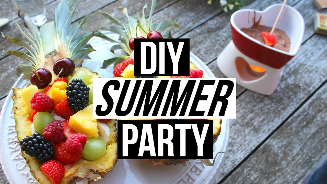 Summer Backyard Party DIY Snacks Decor