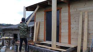 Строю террасу для нашего дома.