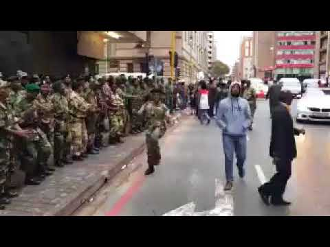 People are celebrating on the streets of Harare City for liberating their country from the dictatori