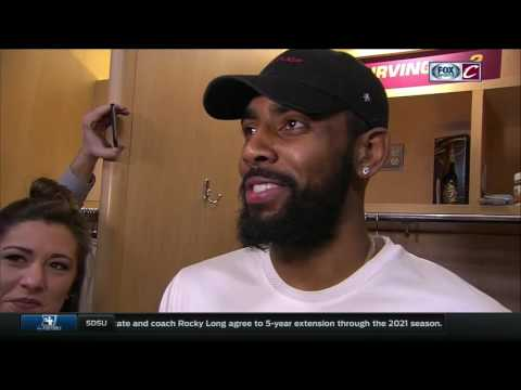 Kyrie Irving credits Cleveland Cavaliers' teammates for getting to the right spots after win