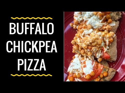 Day 9 Vegan Buffalo Chickpea Pizza