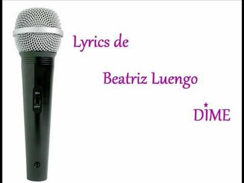 Beatriz Luengo Lyrics DIME