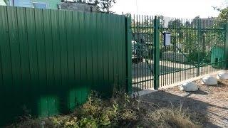 Обзор забора из профлиста или как сделать забор(В этом видео я хочу показать забор, который был сделан мною. В ролике будут показаны ссылки на уникальное..., 2015-09-11T14:03:54.000Z)