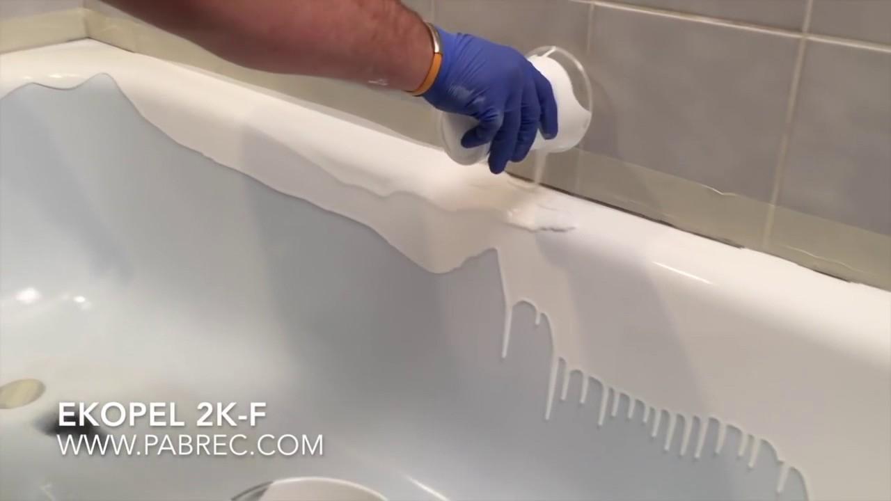 Verniciare Vasca Da Bagno : Sovrapposizione vasche da bagno rismaltatura vasche da bagno youtube