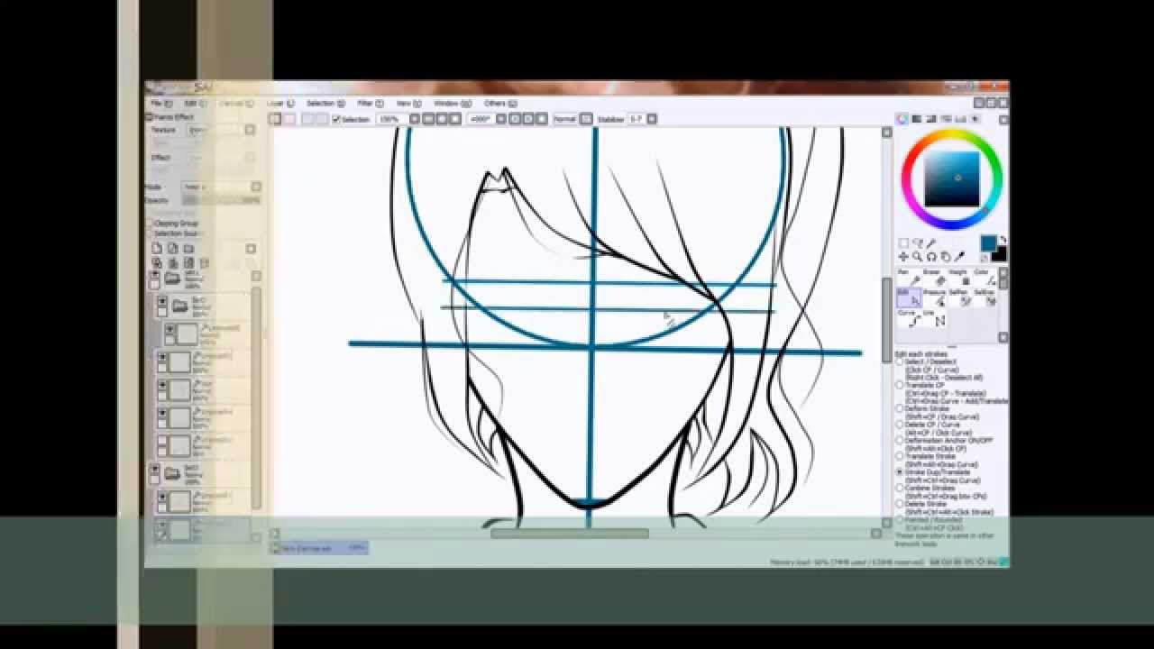 How To Draw Anime Or Manga Girl Using Mouse Only In Paint Tool Sai  Youtube
