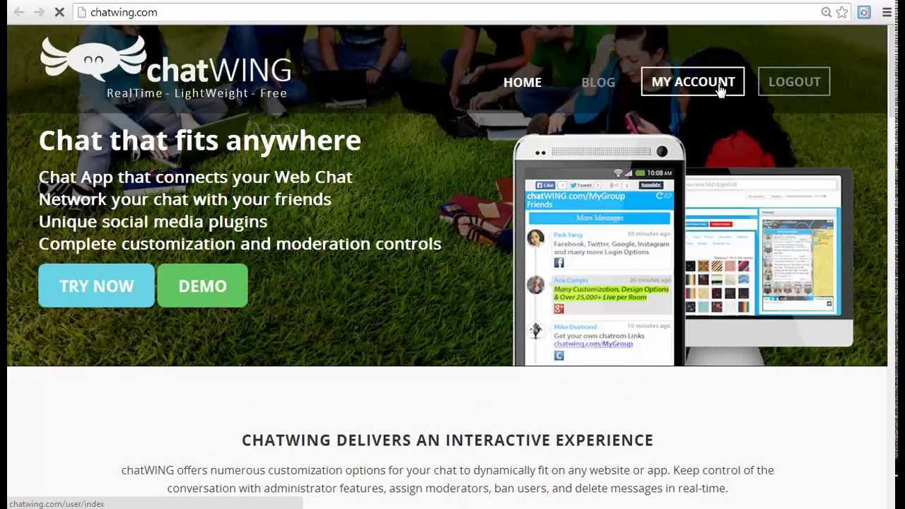College chat room app