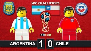 ARGENTINA vs CHILE 1-0 • World Cup Russia 2018 Qualifiers ( Film Lego Football Highlights ) AFA