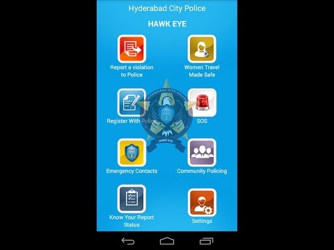 "How to Use ""Hawk Eye"" Mobile App Launched by Hyderabad Police Launched-Telangana"
