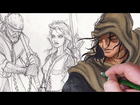 Character design session medieval steampunk rogue doovi for Draw with jazza mural