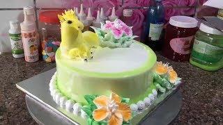 MẪU BÁNH KEM SINH NHẬT ĐƠN GIẢN ĐẸP 11 - CON NGỰA -  SIMPLE CREAM CAKE