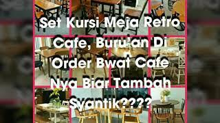 Set Kursi Meja Retro Cafe, Kursi Cafe Jati Jepara, Hp,wa 082133259177