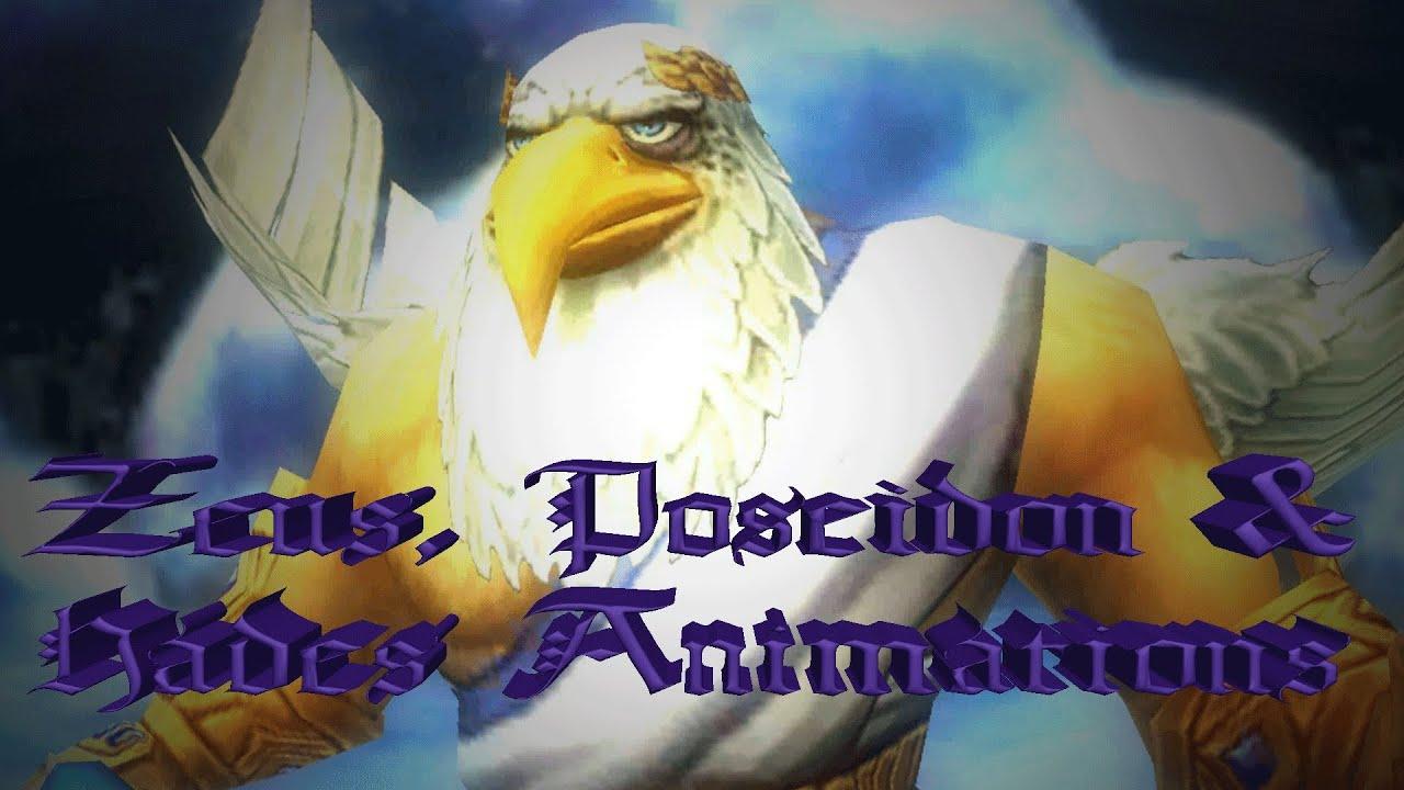 Wizard101 Aquila Animations Bosses: Zeus, Poseidon, & Hades