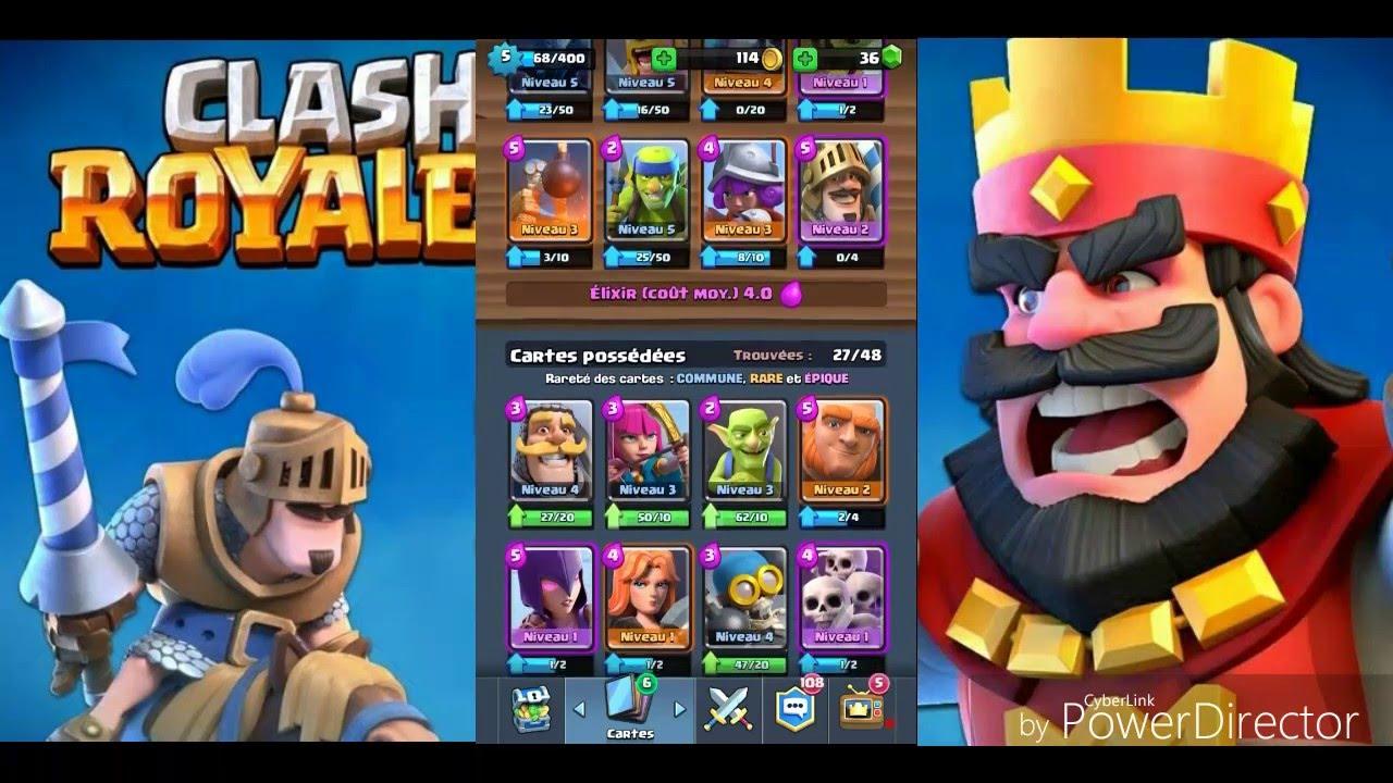 Clash royale deck pour ar ne 3 et 4 avec prince et mini for Deck clash royale sorcier de glace
