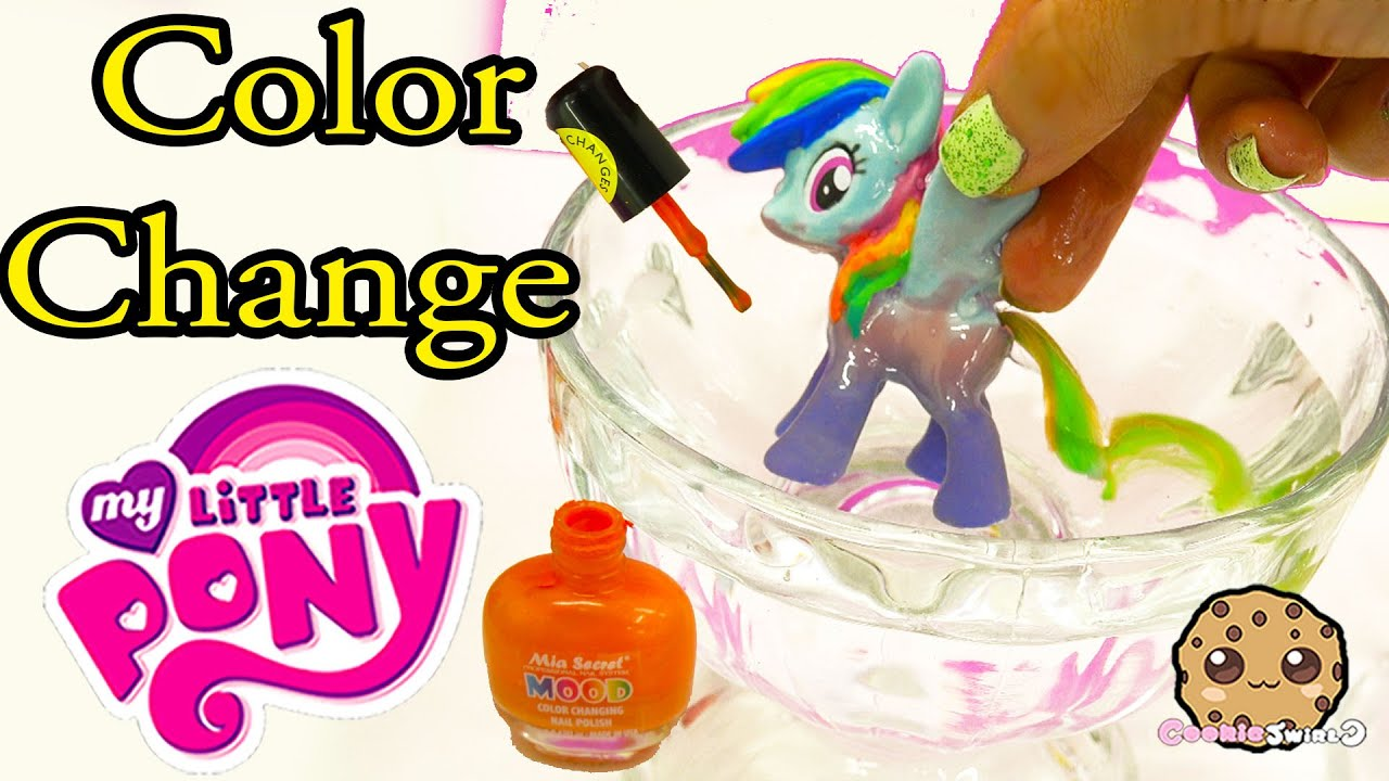 Diy Color Change Mcdonalds Rainbow Dash My Little Pony Nail Polish Painting Craft Video You