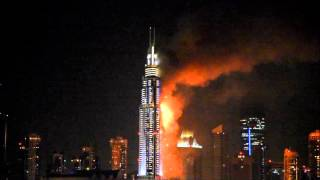 The Address Fire in Dubai during New Year's 2016