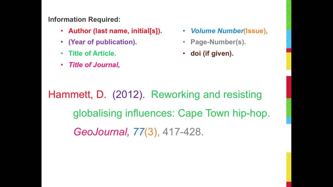 apa citation academic journal