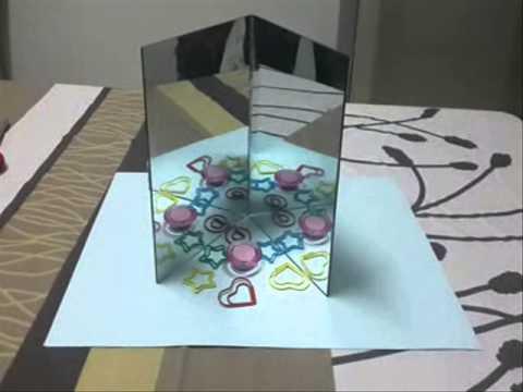 การทดลองวิทยาศาสตร์ เรื่อง แสง สี และการมองเห็น [กระจกกับภาพน่าพิศวง]