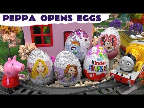 Peppa Pig Thomas and Friends Surprise Eggs - MLP Kinder Disney Princess Sofia The First Fairies