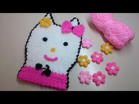 Hello Kitty Kese Lif Yapımı   Örgü Modelleri