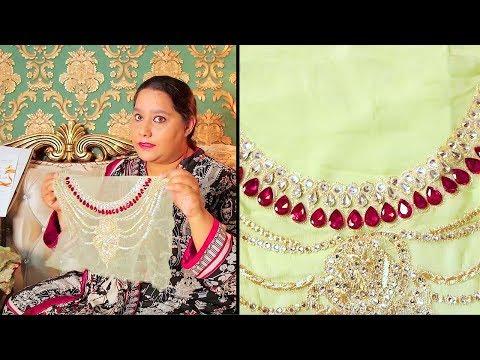 Imrozia Collection 2019   Unboxing Gul-E-Gulzaar 802 Sara Clothes   Hina Altaf