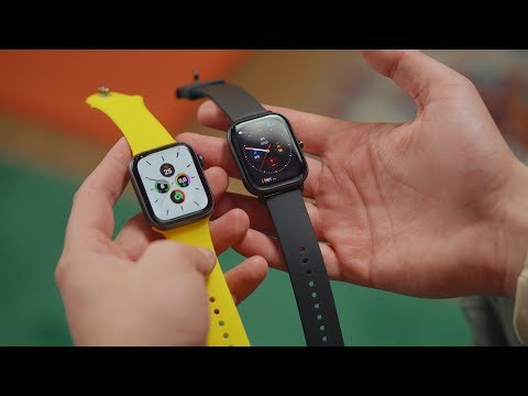 Xiaomi Amazfit GTS Vs Apple Watch Series 5 — кто круче?