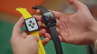 Download Xiaomi Amazfit GTS vs Apple Watch Series 5 — кто круче? Mp3 and Videos