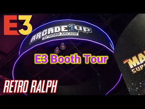 E3 2019 - Arcade1up booth tour - TMNT, Marvel , Starwars, Cocktail Cab & More