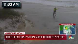 """NBC Nightly News"" Kerry Sanders Hurricane Michael Report"