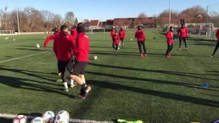 Coupe de France : entraînement du DFCO avant le 1/32e de final à Louhans-Cuiseaux
