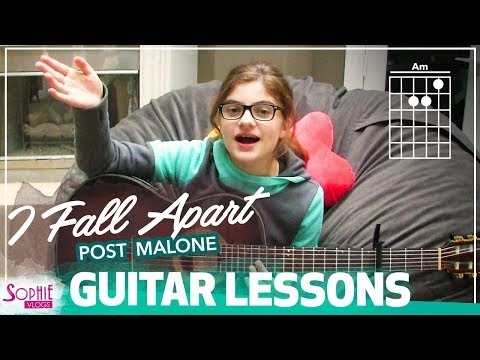 I Fall Apart - Post Malone | Easy Guitar Songs for Beginners & Chords (by Sophie Pecora)
