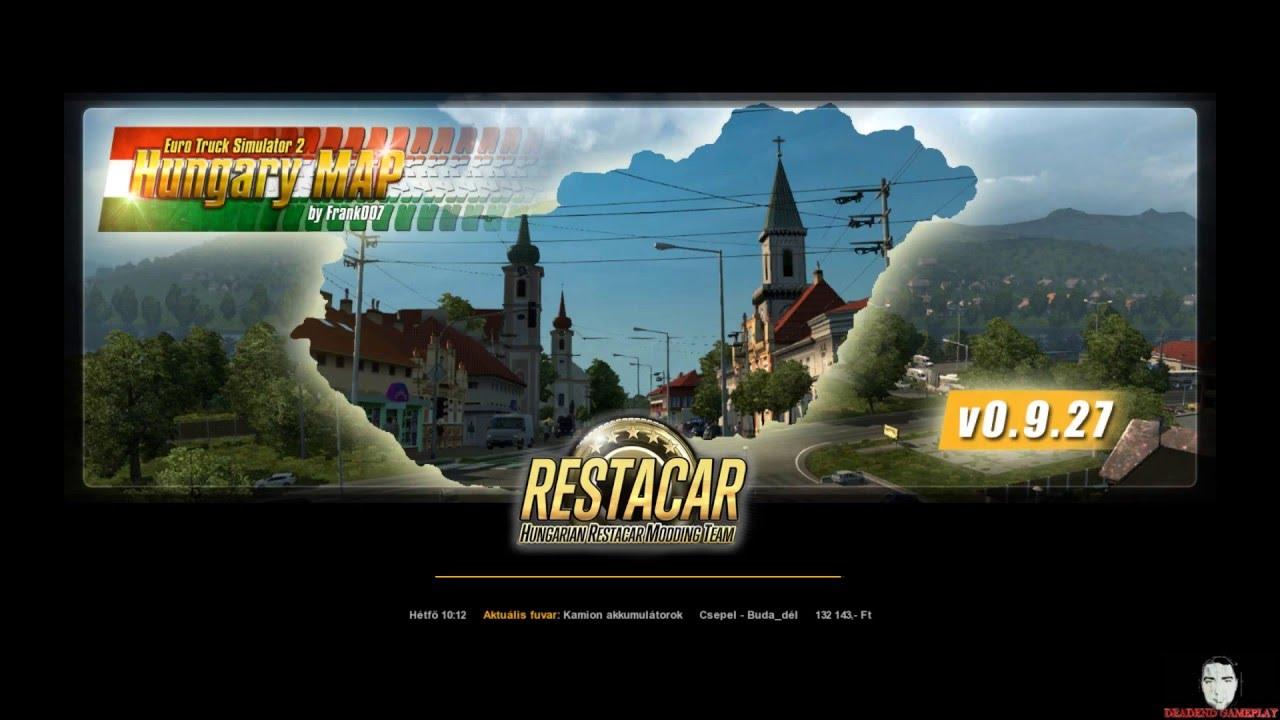 euro truck simulator 2 magyarország térkép Euro Truck Simulator 2 | Magyar mód v09.27 | Bemutató! | HUN 1  euro truck simulator 2 magyarország térkép