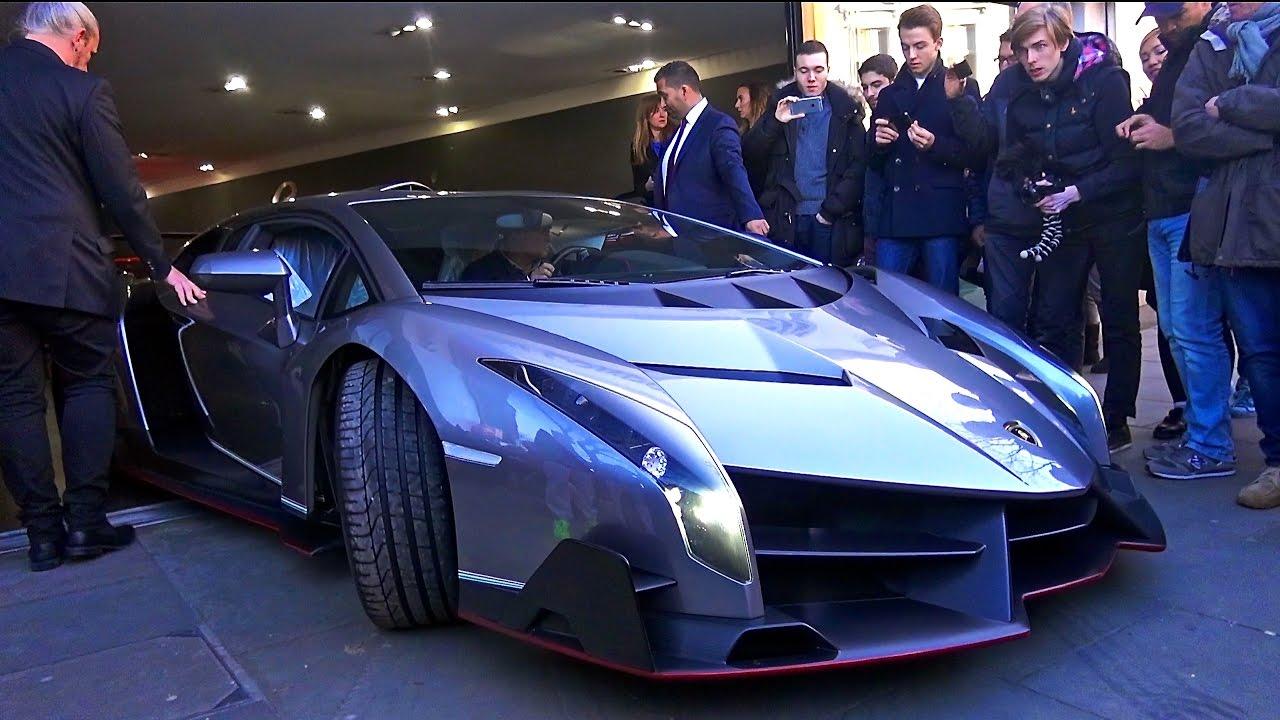 £4.5 MILLION Lamborghini Veneno Arrives In London!   YouTube