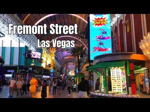 Fremont Street Experience, East District - Downtown Las Vegas 2019 4K Binaural Audio