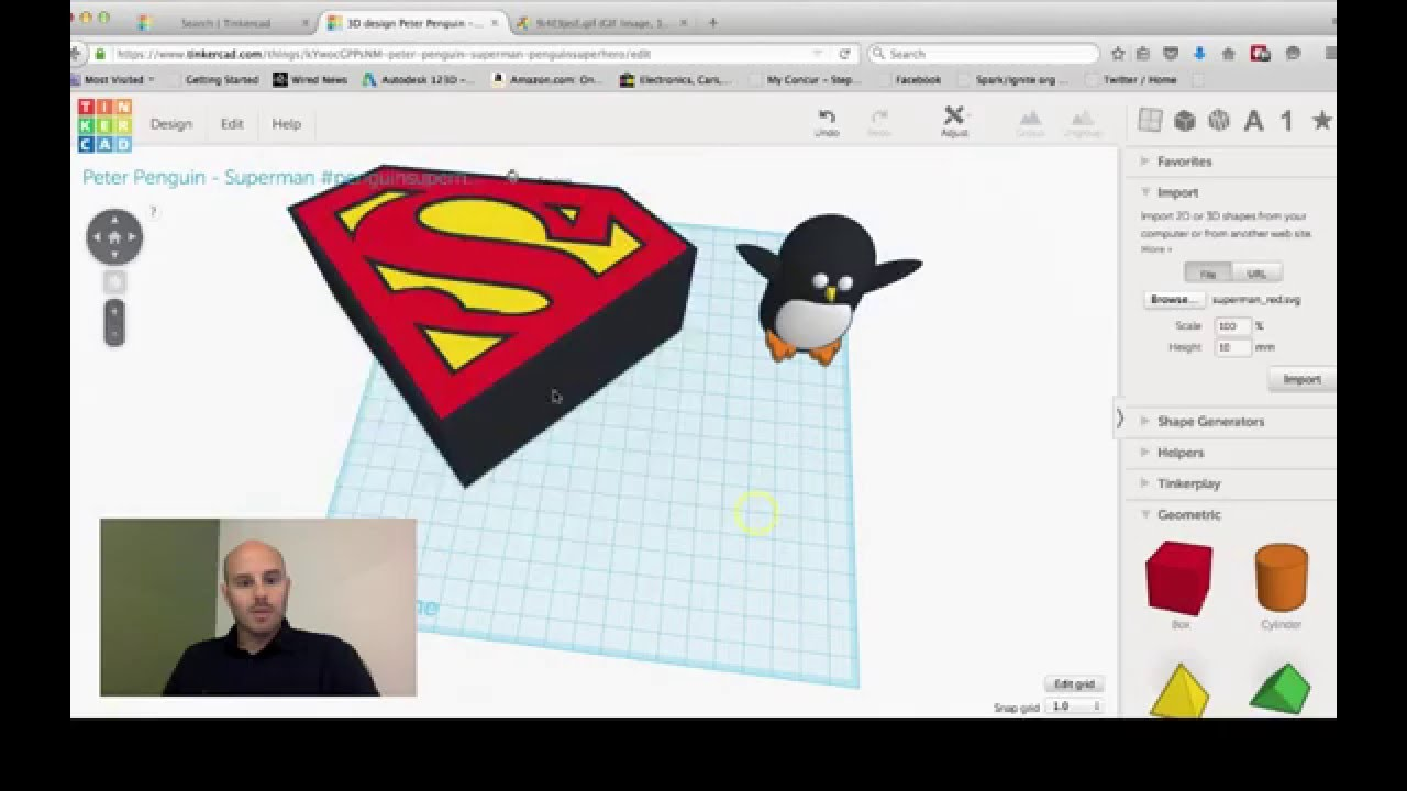 Tinkercad Session Super Peter Penguin Youtube