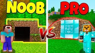 Minecraft NOOB vs. PRO: SECRET BUNKER in Minecraft!