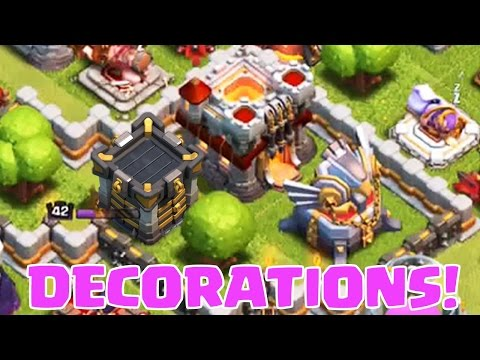 DECORATIONS IN CLASH OF CLANS | PLUS Funny Clan War LIVE Attacks