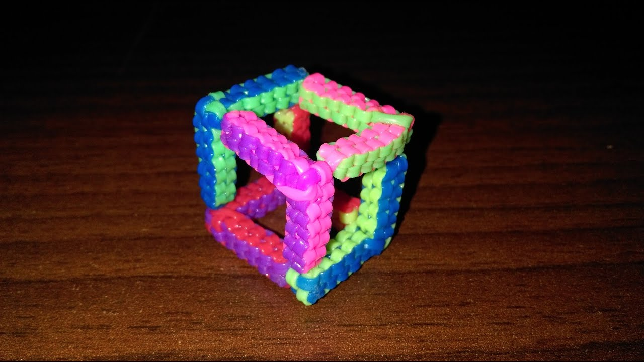 How to make cube scoobie youtube - Comment faire un scoubidou rond ...