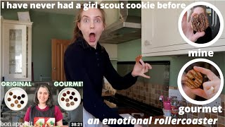 I tried making BON APPÉTIT'S gourmet girl scout cookies *chaos*