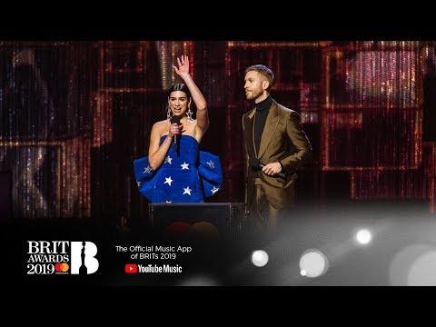'One Kiss' By  Calvin Harris & Dua Lipa Wins British Single | The BRIT Awards 2019