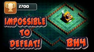 UNDEFEATED ANTI - 1 STAR BUILDER HALL 4 (BH4) BASE W/ PROOF! | CLASH OF CLANS BEST BH4 BASE!!