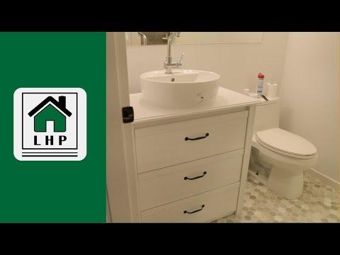 Ikea Dresser To Bathroom Vanity Diy Hack Lhp Youtube