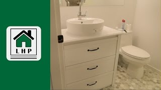 In this video I modify an IKEA BRUSALI dresser to replace my temporary bathroom vanity. This DIY hack saved me around $300.