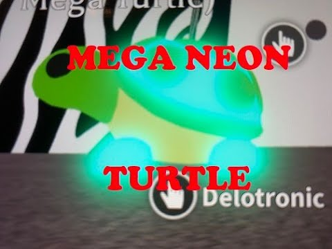 Making A Mega Neon Turtle In Roblox Adopt Me Youtube