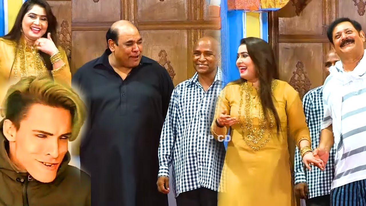 Agha Majid and Sajjad Shoki with Sania Bhatti (NEW) | Stage Drama Ishq De Jhalle | Comedy Clip 2020