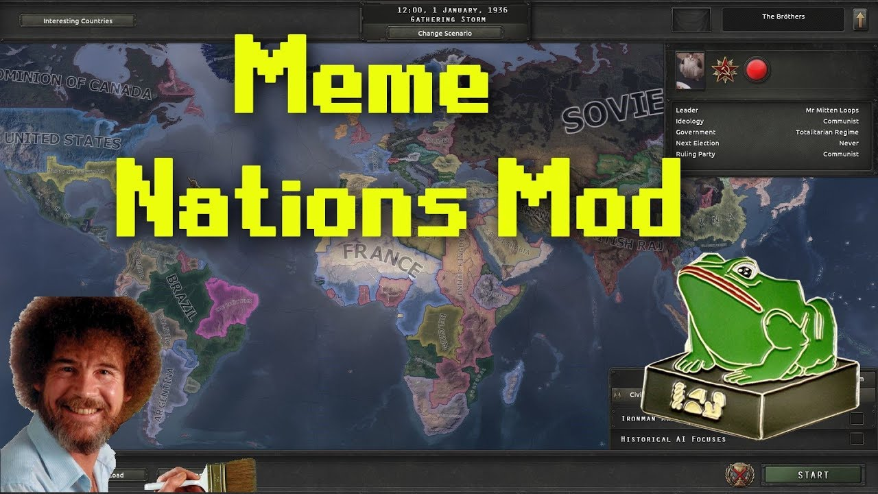 Hearts of Iron 4 | Meme Nations Mod