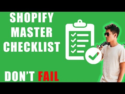 YOUR SHOPIFY DROP SHIPPING STORE WILL FAIL WITHOUT THIS CHECKLIST