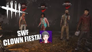 CLOWN FIESTA Ft. No0b3 & SweGamerHD | Dead By Daylight Survivor