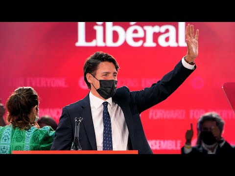 Trudeau says that he's been given a clear mandate by Canadians after winning another minority